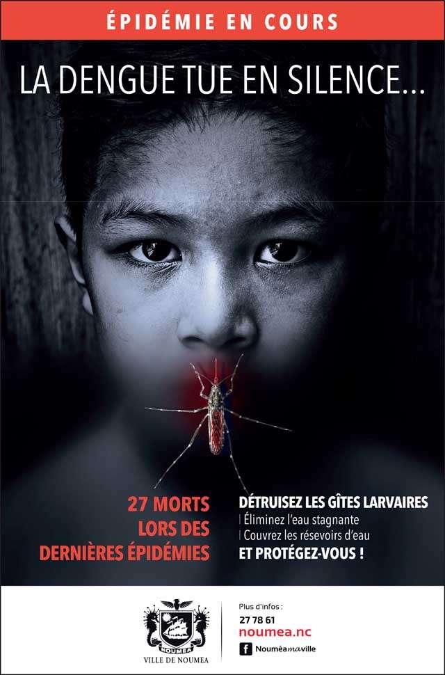 Affiche de la campagne de sensibilisation menée à Nouméa.